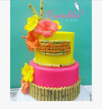 Hawaiian Luau Themed Cake